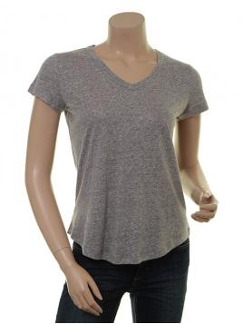 Glitzer Kurzarm T-Shirt 1-8341-1 von Noa Noa in grey melange
