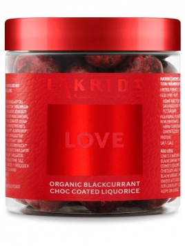 Love-Red organic blackcurrant (150g) Lakrids by Johan Bülow