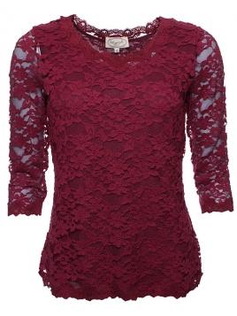 Blouse Mirja 28-012-500 von Sorgenfri Sylt in burgundy