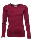Langarm T-Shirt Sandra 28-041-500 von Sorgenfri Sylt in burgundy