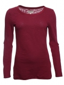Shirt Nelma 28-052-500 von Sorgenfri Sylt in burgundy