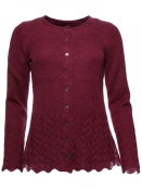 Strickjacke Louise 28-069-500 von Sorgenfri Sylt in burgundy