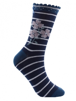 Socken Irma 28-132-320 von Sorgenfri Sylt in midnight
