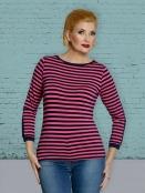 Langarm T-Shirt DU-Thulas-Stripes-pink-blue von Du Milde in PinkBlue