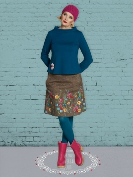 Rock DU-Sofias-Autumn-Skirt von Du Milde in Braun