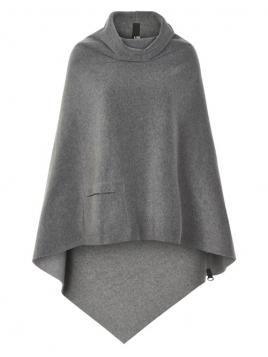 Poncho 4060-JA18-grey von Henriette Steffensen Copenhagen in Grey