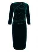 Kleid Nisas (30103502) von InWear in DeepTeal mit körperbetontem Schnitt, aus Samt. Jetzt bequem online bestellen.