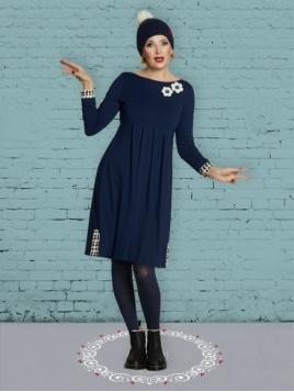 Kleid Scrupulous Almina von Du Milde in Blau