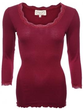Shirt Lynn 28-039-500 von Sorgenfri Sylt in burgundy
