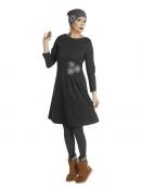 Kleid Poula Elegantier von Du Milde in Grau