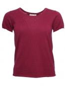Kurzarm T-Shirt Mona von Sorgenfri Sylt in cherry