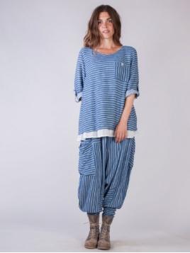 Shirt Tuck von Olars Ulla in BlueWhite