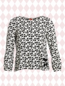 Langarm T-Shirt Marys Black von Du Milde in Black