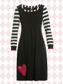 Kleid Almina Stripes von Du Milde in Black