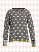 Pullover Laura black-white-heart von Du Milde in BlackWhite