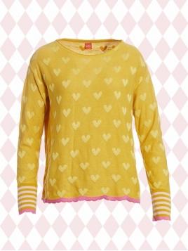 Pullover Laura yellow-heart von Du Milde in Yellow