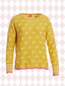 Pullover Laura yellow-heart von Du Milde in Yellow