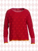 Pullover Laura red-heart von Du Milde in Red