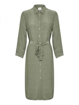 Kleid Raffia von Part-Two in Olive