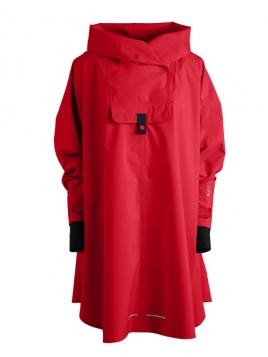 Poncho Bergen von Blaest Rainwear in Rot