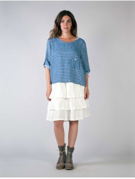 Shirt Tibb von Olars Ulla in BlueWhite