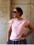 Blusenshirt von Saint Tropez in Rose