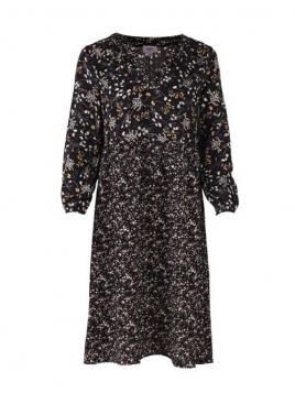 Kleid Calf Woven von Saint Tropez in Black