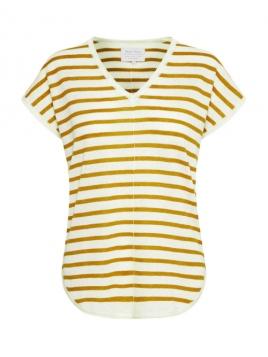 Kurzarm T-Shirt von Part-Two in Yellow