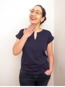 Kurzarm T-Shirt Kedita von Part-Two in NavyBlazer