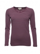 Langarm T-Shirt Sandra von Sorgenfri Sylt in Grape