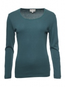 Langarm T-Shirt Malin von Sorgenfri Sylt in Bottle green