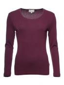 Langarm T-Shirt Malin von Sorgenfri Sylt in Grape