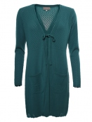 Strickjacke Mette von Sorgenfri Sylt in Bottle green