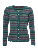 Strickjacke Loraja von Sorgenfri Sylt in Bottle green