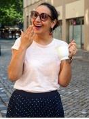 Kurzarm T-Shirt Faylinn von InWear in RoseQuartz
