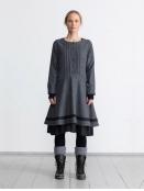 Kleid Korint von Olars Ulla in BlackGrey