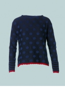 Pullover Eva Dots blue von Du Milde in Blue
