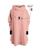 Poncho Bergen von Blaest Rainwear in Rosa
