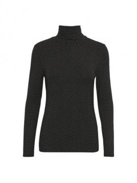 Rollkragenshirt Afinas von Part-Two in Mini Dot Black