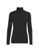 Rollkragenshirt Afinas von Part-Two in Mini Dot Black