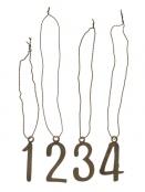 Zahlenanhänger 1-4 von Ib Laursen
