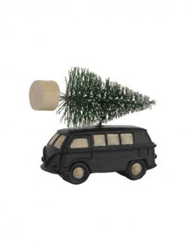 Auto mit Weihnachtsbaum von Ib Laursen in schwarz