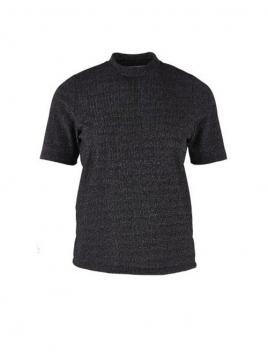 Halbarmshirt von Saint Tropez in Black