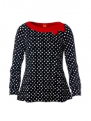 Shirt Albertas Inner Diva von Du Milde in Schwarz