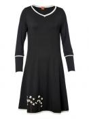 Kleid Caroline Snowberries von Du Milde in Schwarz