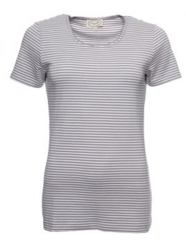 Kurzarm T-Shirt Sara von Sorgenfri Sylt in steel