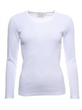 Langarm T-Shirt Malin von Sorgenfri Sylt in white