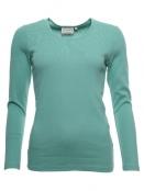 Langarm T-Shirt Malin von Sorgenfri Sylt in aloe