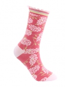 Socken Irma Hortensie von Sorgenfri Sylt in Magnolie