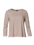 Langarm T-Shirt Mary Allover Hearts von Du Milde in WeissRot